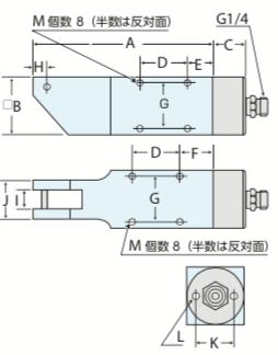 AM型 エアーハサミ 機械取付タイプ