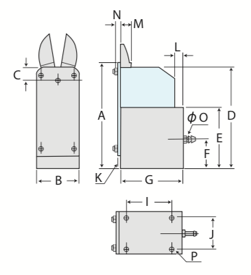 MF型 ゲートカット用エアーニッパ バーチカルタイプ