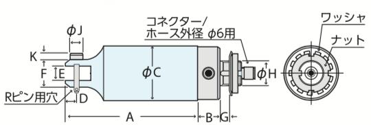 MR-MT型 機械取付式丸型エアーニッパ